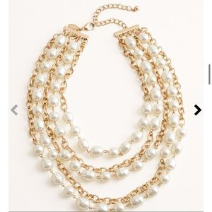 Chico's Short Faux-Pearl Necklace